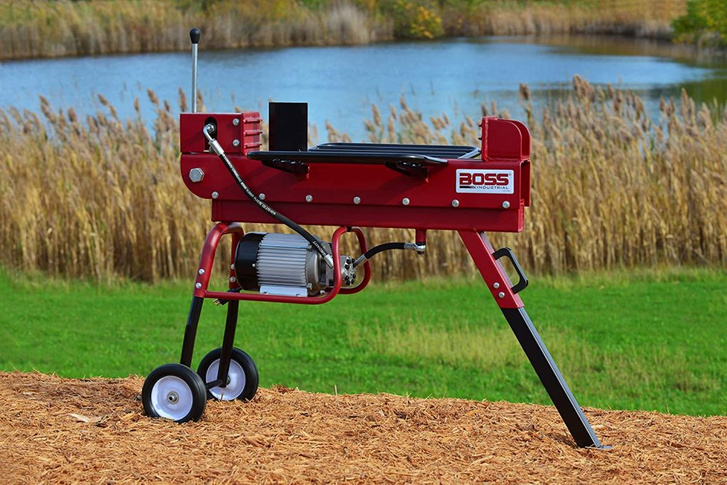 Boss 10 Ton Electric Log Splitter