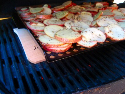 Alder Plank Grilled Potatoes