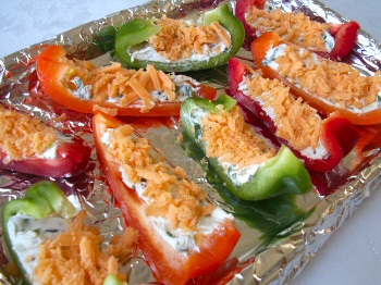 Broiled Stuffed Pepper Wedges