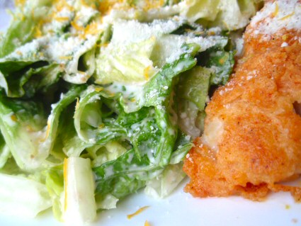 Caesar Fish Salad
