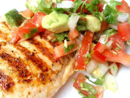 Cilantro Chicken with Avocado Salsa