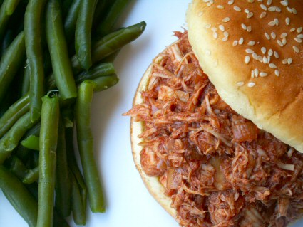 Easy BBQ Chicken Sandwiches (Oven or Slow Cooker)