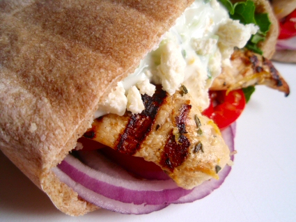 Grilled Chicken Souvlaki Gyros