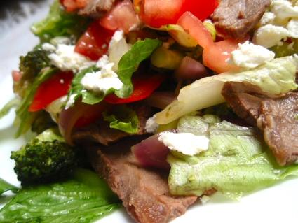 Grilled Steak Stir Fry Salad