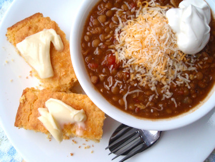 Hearty Beef and Lentil Chili