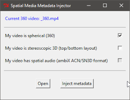 The Spatial Media Metadata Injector