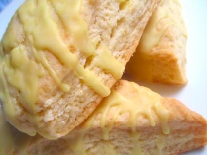 Lemon Scones with Sour Lemon Glaze