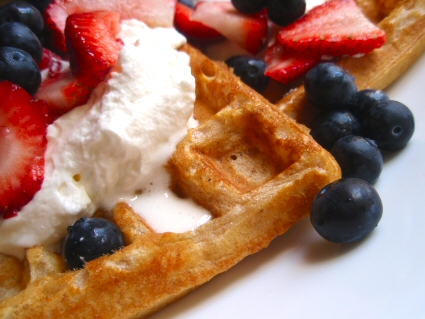 Low Fat Whole Grain Waffles