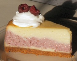 Vanilla Raspberry Cheesecake