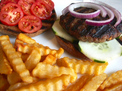 Spicy Grilled Lamb Burgers