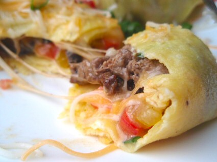 Easy Steak and Veggie Omelette